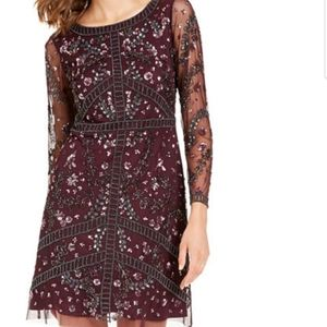 Adriana Papell Beaded A-Line dress